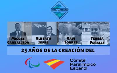 25 años de la creación del Comité Paralímpico Español. Bodas de plata para deportistas de ORO.
